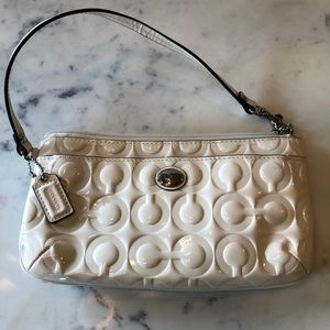 Coach Ivory Patent Leather clutch/wallet